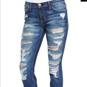 Current/Elliott Stiletto Skinny Cropped Jeans- 26